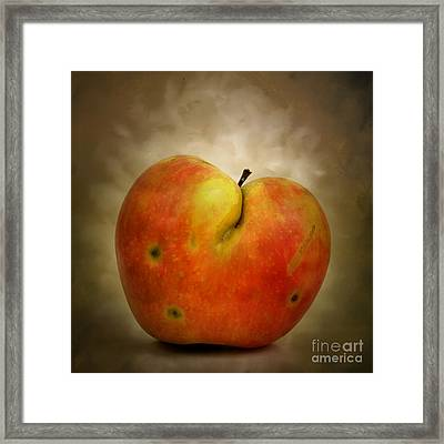 Textured Apple Framed Print by Bernard Jaubert