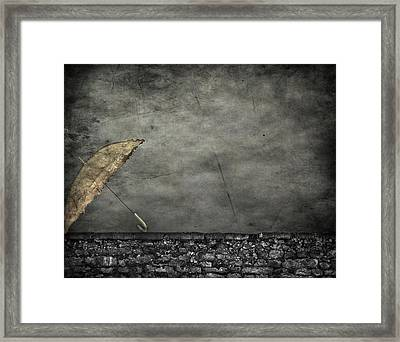 Th E Red Umbrella Framed Print by JC Photography and Art