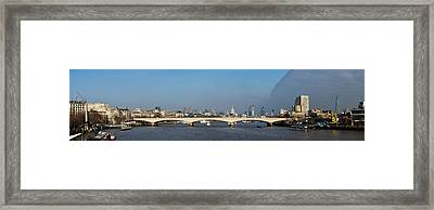 Thames Panorama Weather Front Clearing Framed Print by Gary Eason