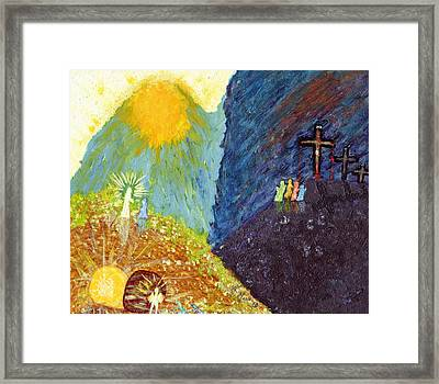 Thank God For Good Friday And Easter Sunday Framed Print by Carl Deaville
