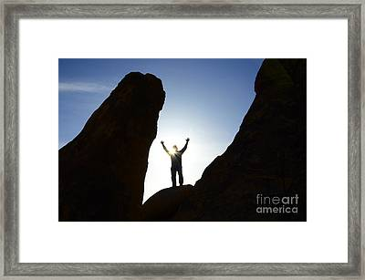 Thanks For Today Hope For Tomorrow Framed Print by Bob Christopher