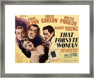 That Forsyte Woman, Greer Garson, Errol Framed Print by Everett