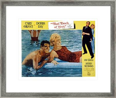 That Touch Of Mink, Cary Grant, Doris Framed Print by Everett