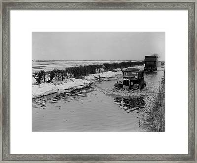 Thaw Framed Print by Topical Press Agency