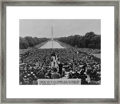 The 1957 Civil Rights Demonstration Framed Print by Everett