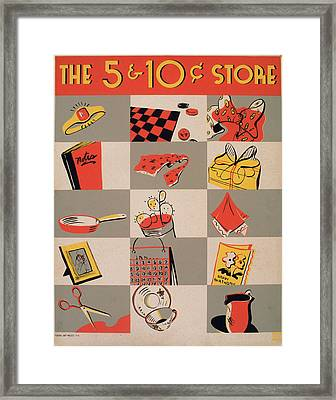 The 5 And 10 Cent Store, Aka Five Framed Print by Everett
