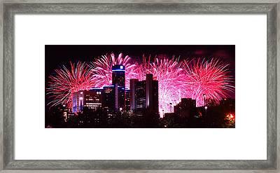 The 54th Annual Target Fireworks In Detroit Michigan Framed Print by Gordon Dean II