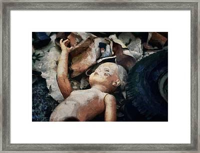 The Abandoned Doll Framed Print by Gun Legler