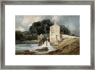 The Abbey Mill - Knaresborough Framed Print by Thomas Girtin