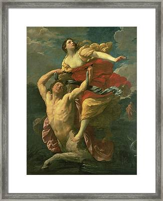 The Abduction Of Deianeira Framed Print by  Centaur Nessus