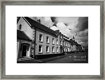 The Academy House In 18th Century Gracehill Village A Moravian Settlement In County Antrim Framed Print by Joe Fox