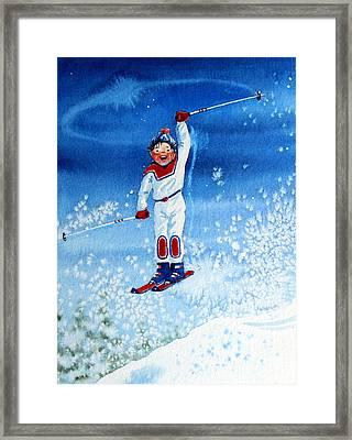 The Aerial Skier 15 Framed Print by Hanne Lore Koehler