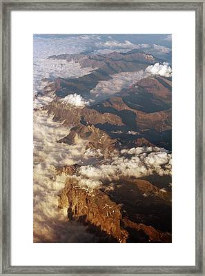 The Alps, Aerial Photograph Framed Print by Carlos Dominguez
