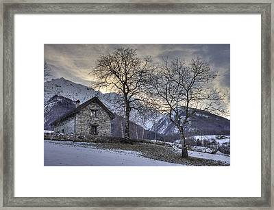 The Alps In Winter Framed Print by Joana Kruse