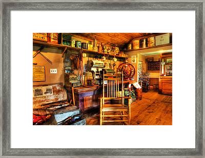 The American General Store -  - Vintage - Nostalgia Framed Print by Lee Dos Santos