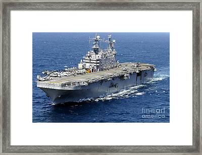 The Amphibious Assault Ship Uss Peleliu Framed Print by Stocktrek Images
