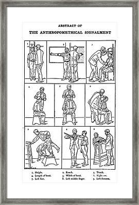 The Anthropometrical Signalment, 1896 Framed Print by Science Source