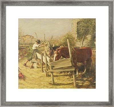 The Appian Way Framed Print by Henry Herbert La Thangue