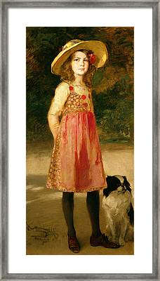 The Artist's Daughter - Hilde   Framed Print by Frederich August Kaulbach