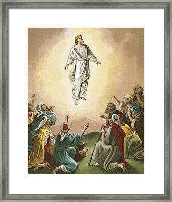 The Ascension Framed Print by English School