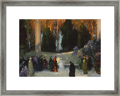 The Audience Framed Print by TE Mostyn