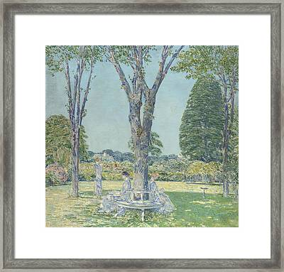 The Audition Framed Print by Childe Hassam