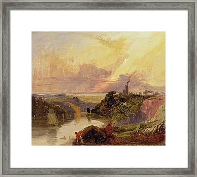 The Avon Gorge At Sunset  Framed Print by Francis Danby