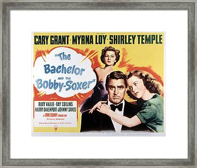 The Bachelor And The Bobby-soxer, Cary Framed Print by Everett