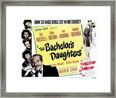 The Bachelors Daughters, Top To Bottom Framed Print by Everett