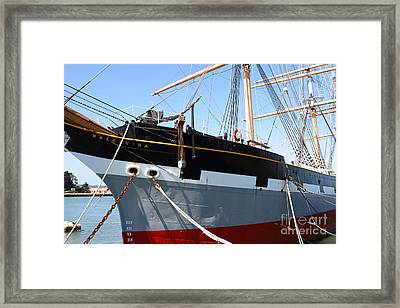 The Balclutha . A 1886 Square Rigged Cargo Ship At The Hyde Street Pier In Sf California . 7d14136 Framed Print by Wingsdomain Art and Photography
