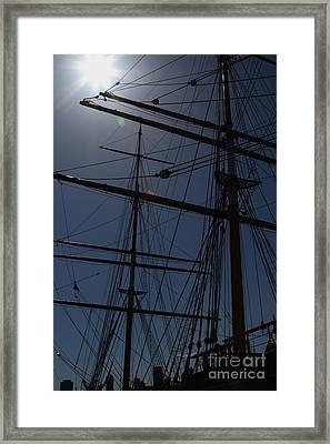 The Balclutha . A 1886 Square Rigged Cargo Ship At The Hyde Street Pier In Sf . Mast . 7d14157 Framed Print by Wingsdomain Art and Photography
