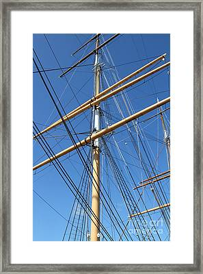 The Balclutha . A 1886 Square Rigged Cargo Ship At The Hyde Street Pier In Sf . Mast . 7d14158 Framed Print by Wingsdomain Art and Photography