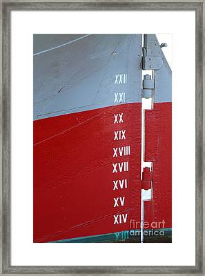 The Balclutha.a 1886 Square Rigged Cargo Ship At The Hyde Street Pier In Sf.depth Indicator.7d14154 Framed Print by Wingsdomain Art and Photography