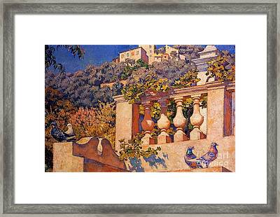 The Balustrade Framed Print by Pg Reproductions