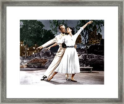 The Band Wagon, From Left Fred Astaire Framed Print by Everett