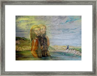The Baptism Of Yeshua Messiah Framed Print by Anastasia Savage Ealy
