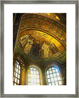 The Basilica Di San Vitale In Ravenna - 02 Framed Print by Gregory Dyer