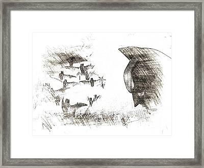 the Bats Framed Print by Hywel Morgan