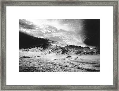 The Beach At Bridgehampton Framed Print by Simon Marsden