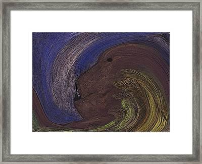 The Beast Framed Print by Melvin Moon