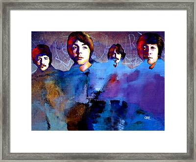The Beatles Framed Print by Carvil