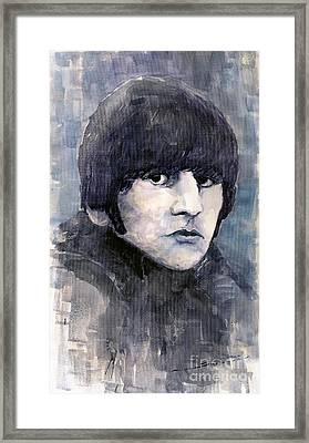 The Beatles Ringo Starr Framed Print by Yuriy  Shevchuk