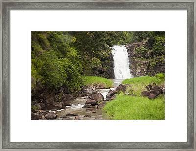 The Beautiful Waimea Falls On Oahu Framed Print by Taylor S. Kennedy