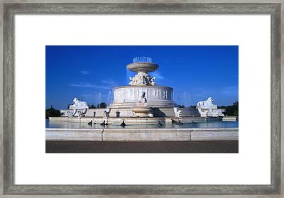 The Belle Isle Scott Fountain Framed Print by Gordon Dean II