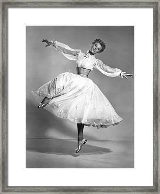 The Belle Of New York, Vera-ellen, 1952 Framed Print by Everett