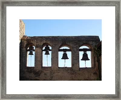 The Bells At The San Juan Capistrano Mission Framed Print by Pat Cannon