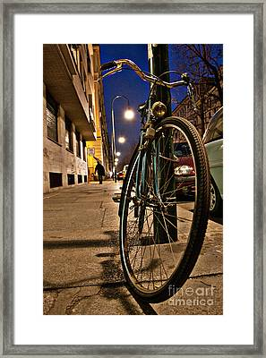 The Bicycle Framed Print by Sonny Marcyan