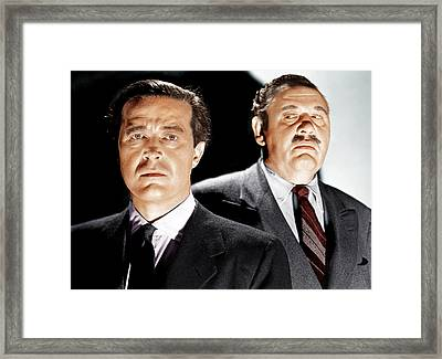 The Big Clock, From Left Ray Milland Framed Print by Everett
