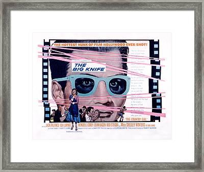 The Big Knife, Jack Palance, Ida Framed Print by Everett