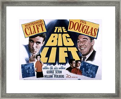 The Big Lift, Montgomery Clift, Paul Framed Print by Everett